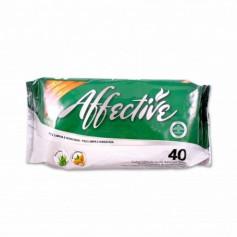 Affective Toallitas Húmedas para Adulto con Aloe Vera y Aceite de Almendras - (40 Unidades)