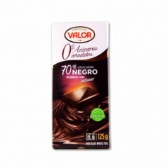 Valor Chocolate Negro 70% con Stevia - 125g