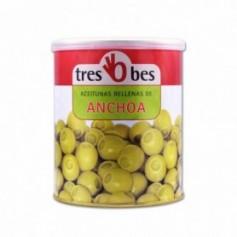 Tres Bes Aceitunas Rellenas de Anchoa - 850g