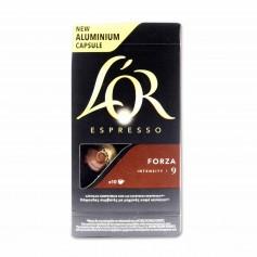 L´OR Espresso Café Forza Intensidad 9 - (10 Cápsulas Compatibles con Cafeteras Nespresso) - 52g