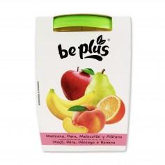 Be Plús Puré de Frutas Manzana, Pera, Melocotón y Plátano - (2 Unidades) - 400g