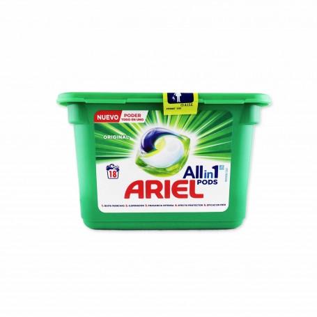 Ariel Detergente Original Todo en 1- (18 Cápsulas) - 0.4536kg
