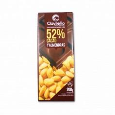 Clavileño Chocolate Extrafino Puro 52% Cacao y Almendras - 200g
